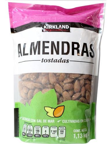 almendras tostadas kirkland signature de 1.13 kg.