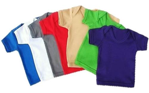 almilla camiseta franela bebe manga corta unicolor algodón