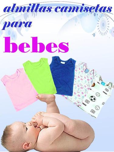 almilla camiseta franelilla bebe unicolores algodon niños