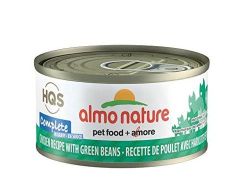 almo nature pollo gato completo con la haba verde de salsa (