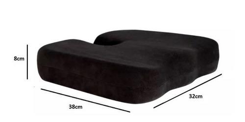 almofada anatômica protetor de cóccix capa c/ ziper perfetto
