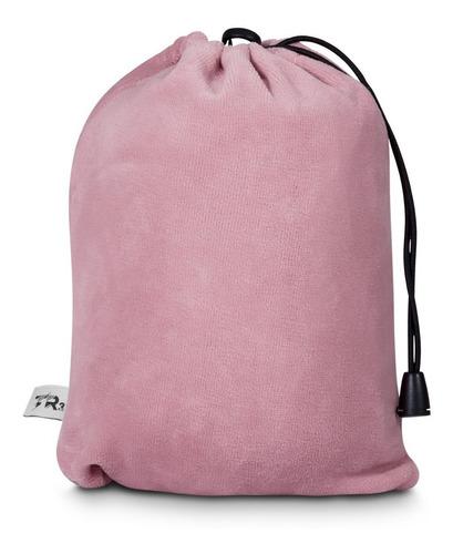 almofada apoio p/ pescoço viagem visco elástico tr3 c/ bolsa