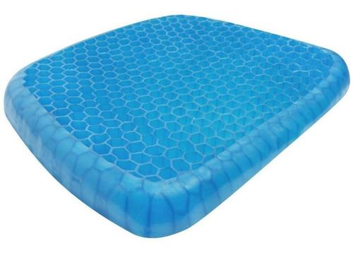 almofada assento de gel silicone egg sit ortopédica com capa
