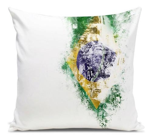 almofada brasil side paint 45x45cm