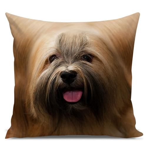 almofada cachorro lhasa apso 45x45cm