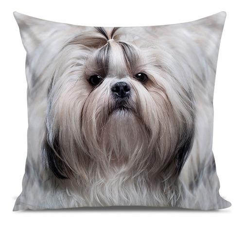 almofada cachorro shih-tzu smooth 45x45cm