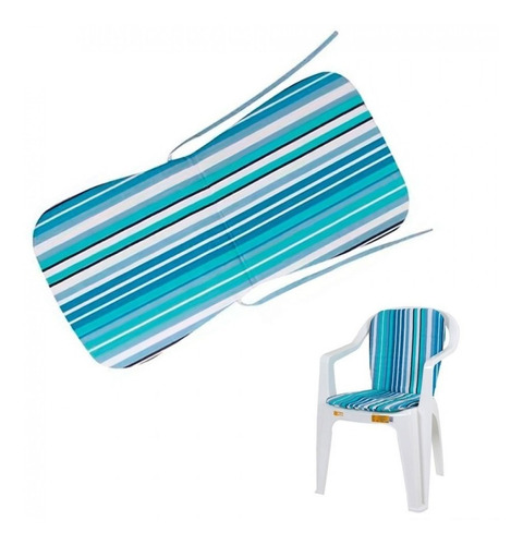 almofada cadeira plastico praia piscina mor