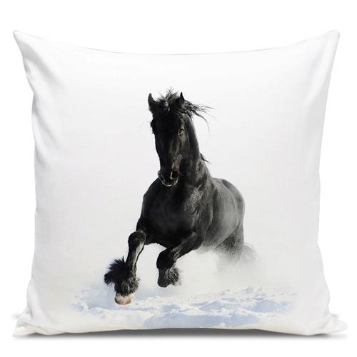 almofada cavalo black winter 45x45cm