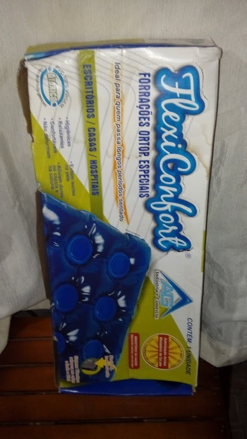 fae68de37 almofada de gel anti escaras quadrada com encosto inflável. Carregando zoom.