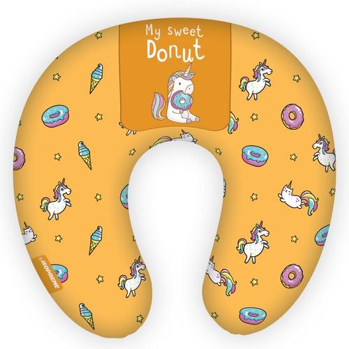 almofada de pescoço para viagens unicórnio donuts isoprene
