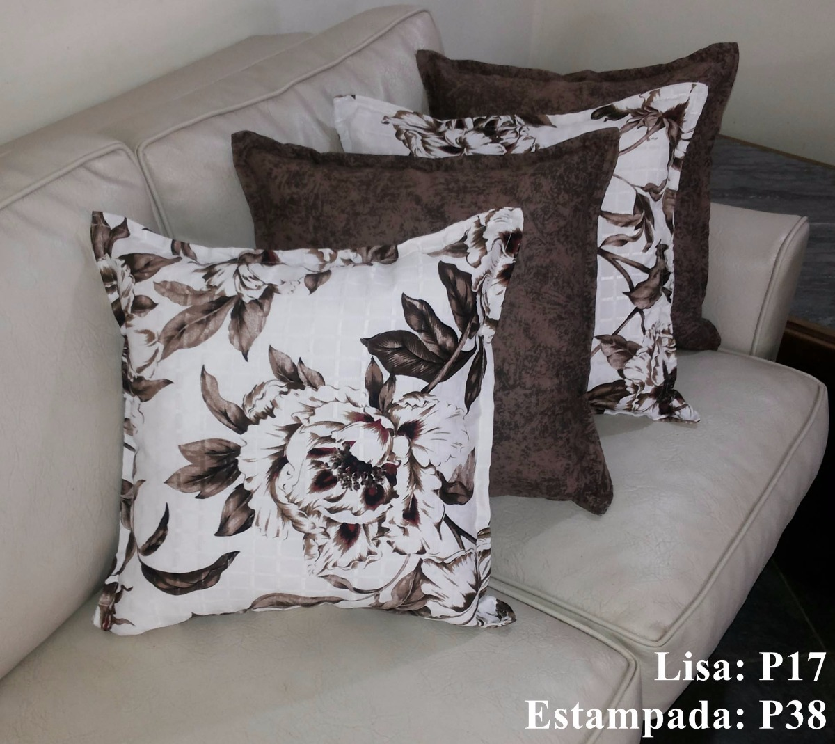 ba5d65c10 Almofada Decorativa - 12 Capas + 12 Enchimentos Fibra 50x50 - R  199 ...