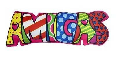 almofada decorativa divertida temática amigas