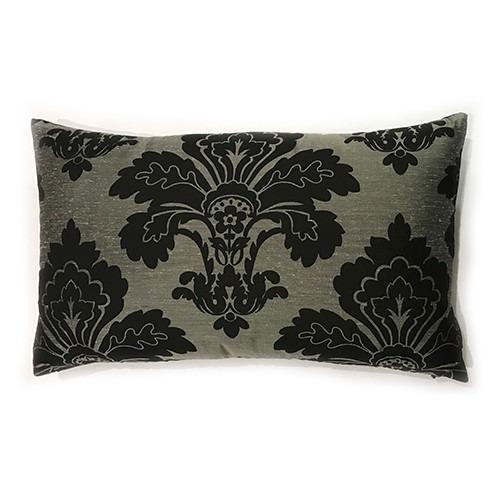 almofada decorativa em seda estampada 50x30cm pronta entrega