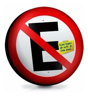 almofada decorativa proibido estacionar - 35cm de diâmetro - lemon drops