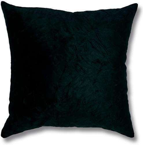 almofada em suede amassado preto 45 x 45cm com enchimento