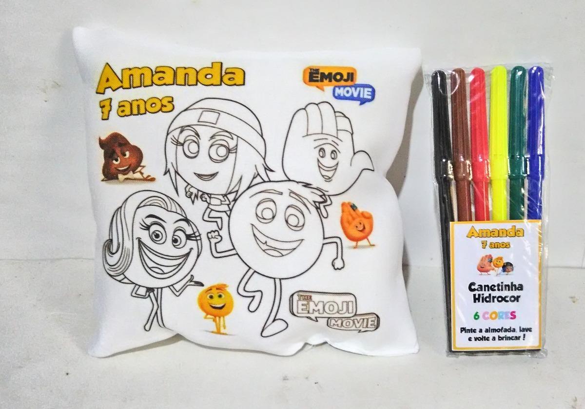 almofada emoji para pintar 10 unidades r 85 00 em mercado livre