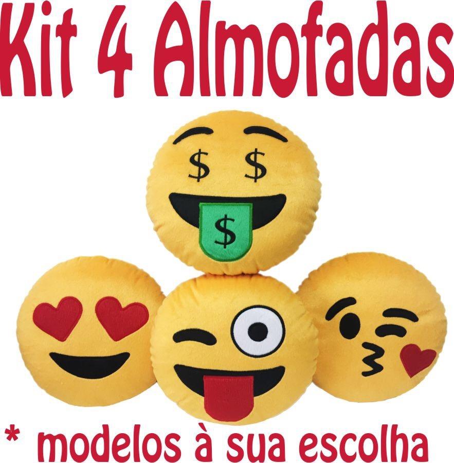 Almofada Emoji Whatsapp Kit 4 Peças - R  63 2dc202a4ebb