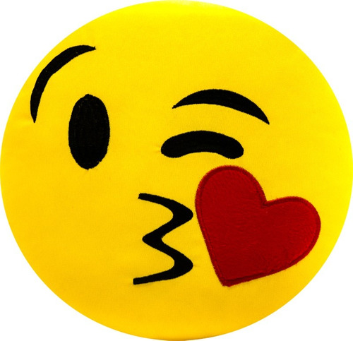 almofada emoji zapzap apaixonado emticon 32cmx32cm bordado