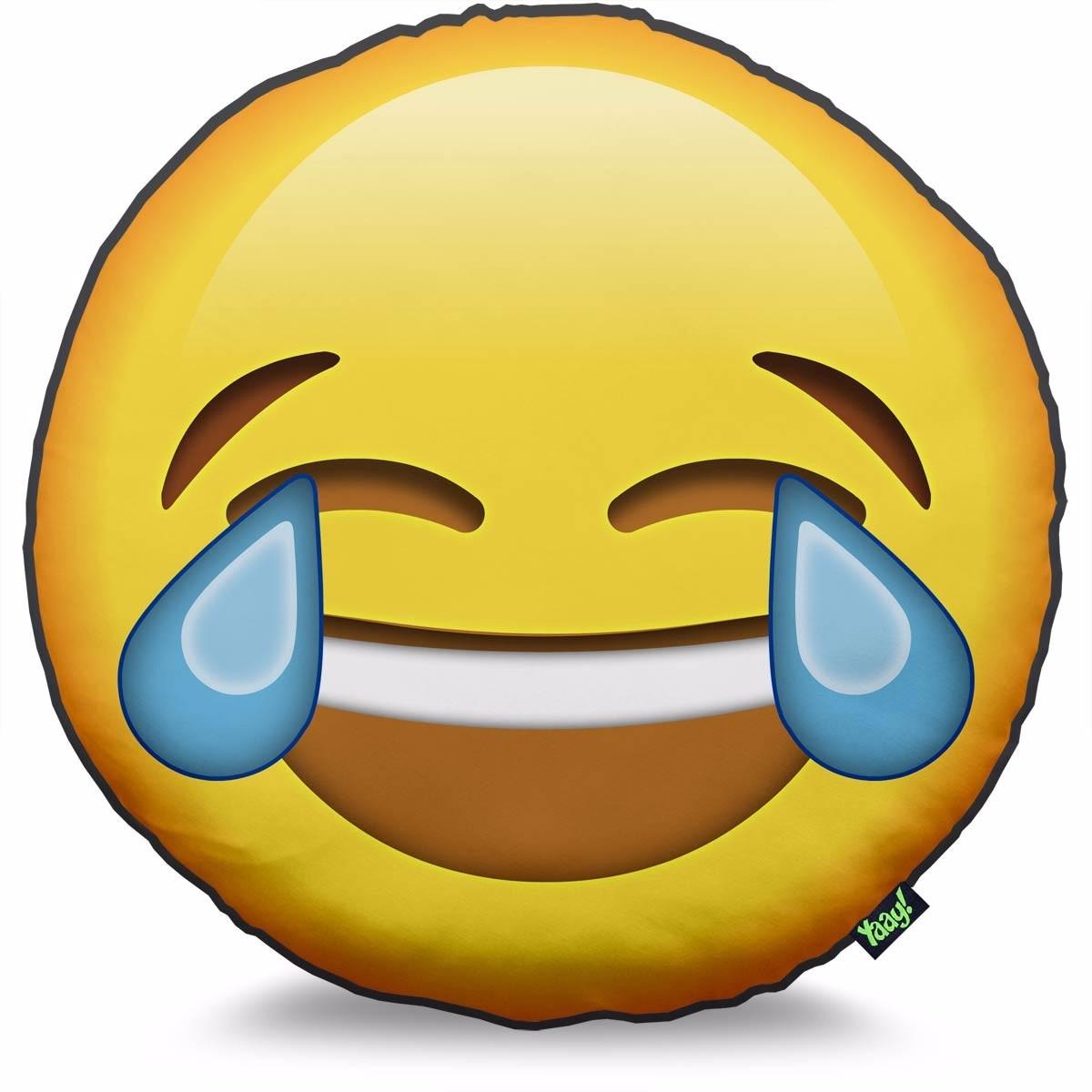 Armario Garaje Plastico ~ Almofada Emoticon Emoji Chorando De Rir Grande 40x40cm Whats R$ 59,99 em Mercado Livre