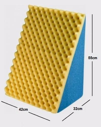 almofada encosto triangular leitura com capa
