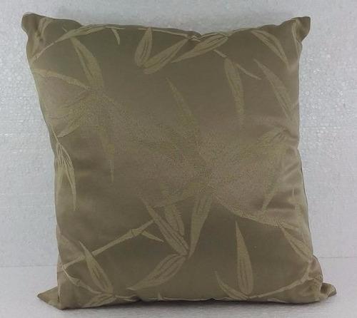 almofada folhas marrom com enchimento