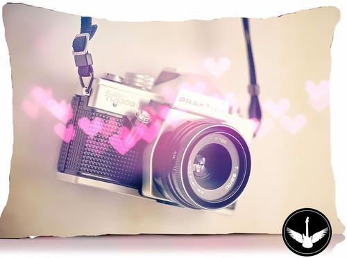 almofada fotografia máquina vintage decoração c/enchimento