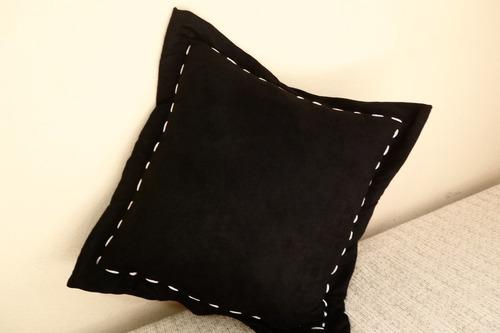 almofada futon , almofadão em  suede.pespontada.