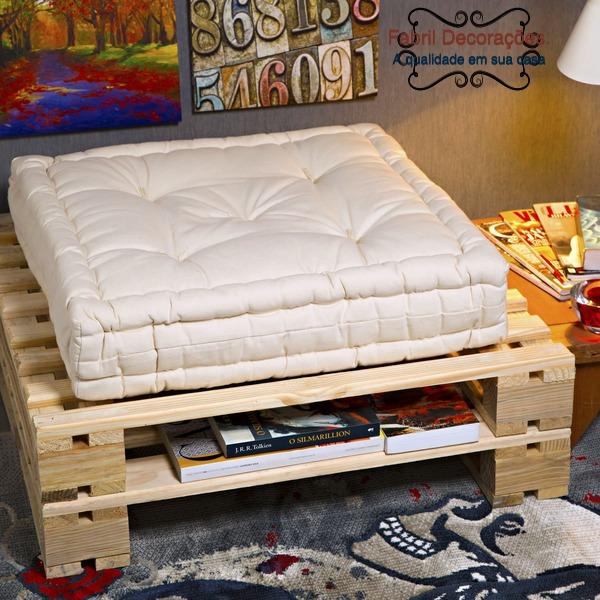 almofada futon turca 60 x 60 para sofa de pallets r 68 00 em mercado livre. Black Bedroom Furniture Sets. Home Design Ideas