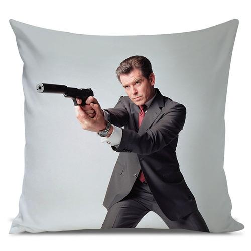 almofada james bond 007 pierce brosnan 45x45cm