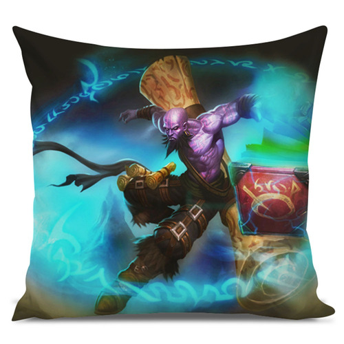 almofada league of legends ryze mago ladino 45x45cm