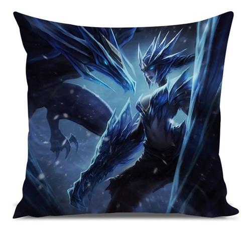 almofada league of legends shyvana dragão de gelo 45x45cm