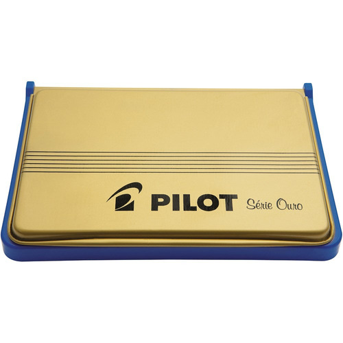 almofada p/ carimbo pilot n° 03 azul serie ouro original