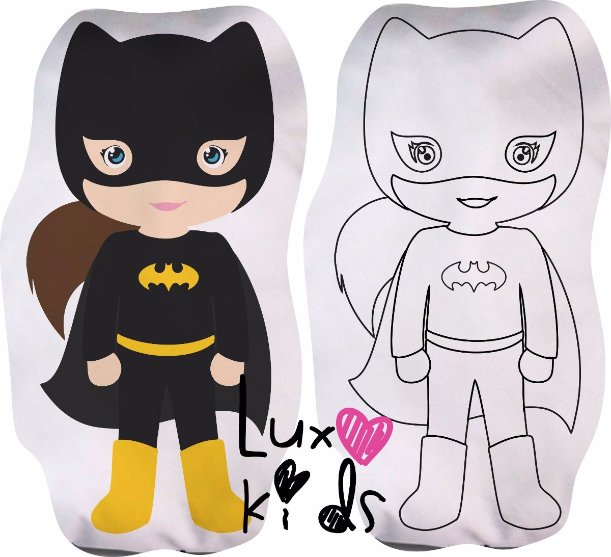 Almofada Para Colorir Batgirl R 355 00 Em Mercado Livre