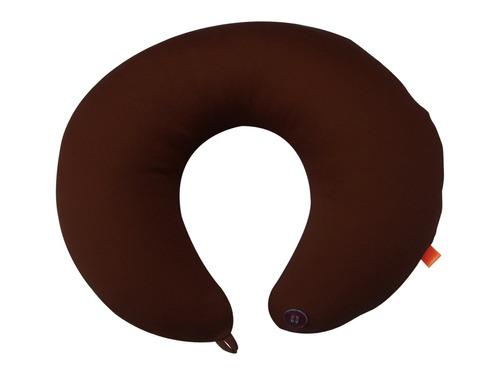 almofada para pescoço marrom