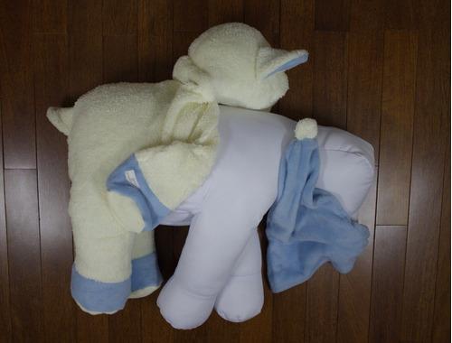 almofada pelúcia ovelha/carneirinho touca dormir com nome