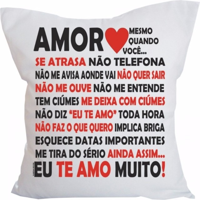 997c513afcd2ac Almofada Personalizada Amor Eu Te Amo