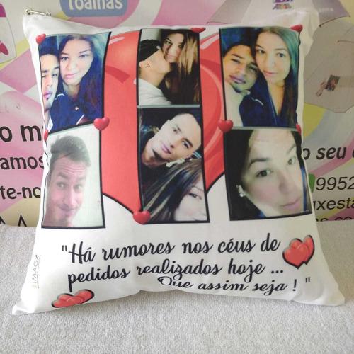 almofada personalizada  quadrada 30 cm decorativo  imagx