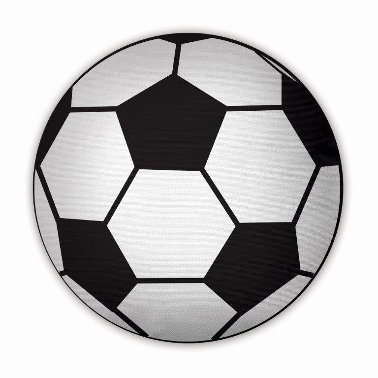 Almofada Redonda 45x45 Bola De Futebol - R$ 59,88 em