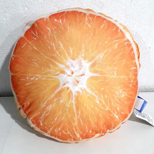 almofada redonda laranja 40cm
