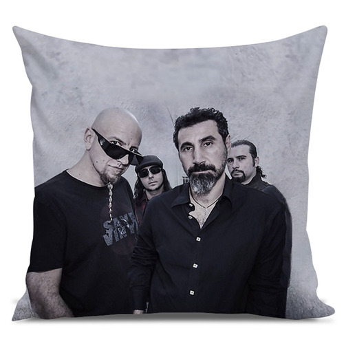 almofada rock system of a down 45x45cm