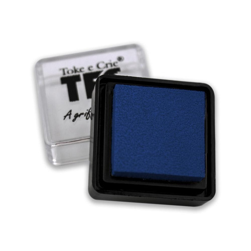 almofada toke e crie p/ carimbo azul marinho - alc019