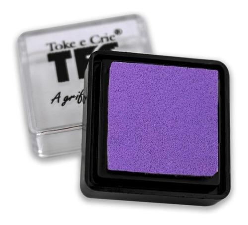 almofada toke e crie p/ carimbo lilás - alc017