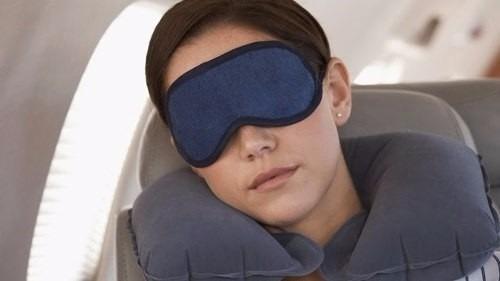 almofada travesseiro apoio para pescoço adulto viagem azul