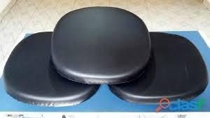 almofadas cadeiras saarinen em courano/sued kit com 4 unidad