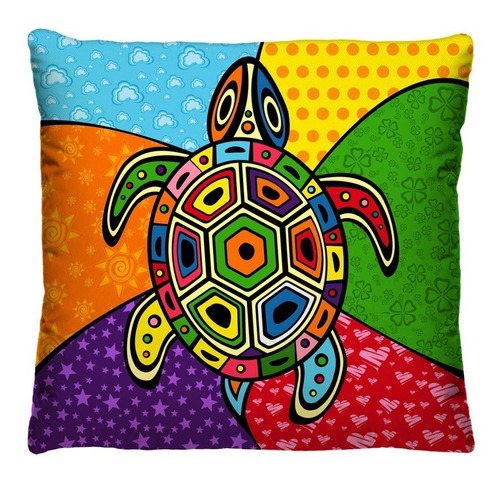 almofadas decorativas - romero britto - coloridas