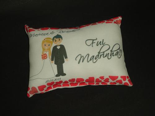 almofadas personalizadas 15x21 p/ aniversário,casamento,etc.