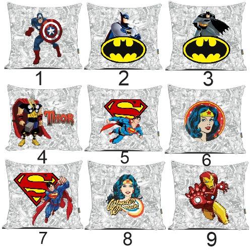 almofadas qualquer tema super heróis desenhos e séries r 45 00