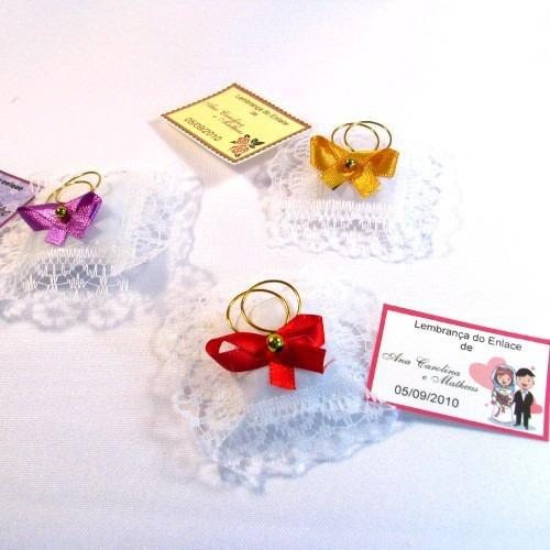 almofadinha lembrancinha casamento aliança kit c 50 vermelha