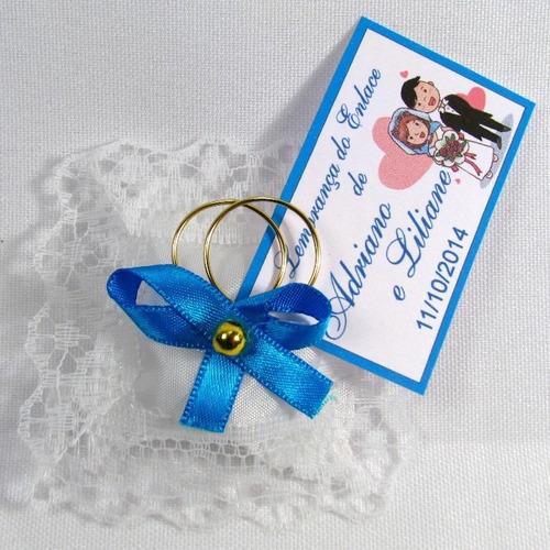 almofadinha lembrancinha casamento bodas aliança kit 60 und