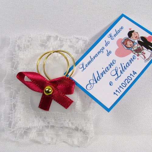 almofadinha lembrancinha casamento cor pink kit 100 und